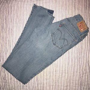 Levi's Mid Rise Skinny Light Wash Jeans